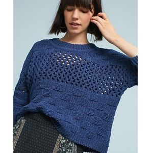 Anthropologie MOTH Chenille Sweater